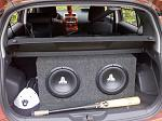 "2 10"" JL's w/ 550 watt amp. and PLC knob"